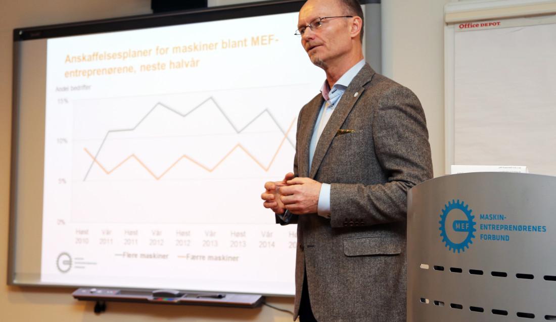 Stein Gunnes under MEFs fakta- og analysedag januar 2015.
