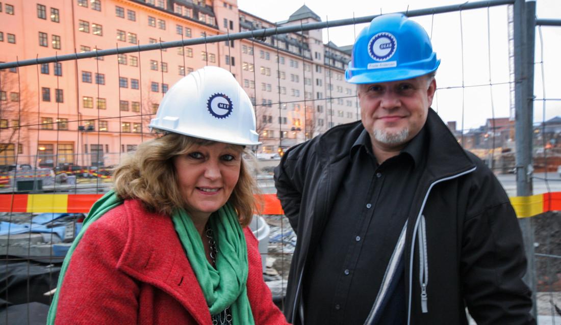 Marianne Nordli i MEF-skolen og Frode Andersen, Frode Andersen er MEFs representant i Bransjeråd for Fjellsprengning (BfF).