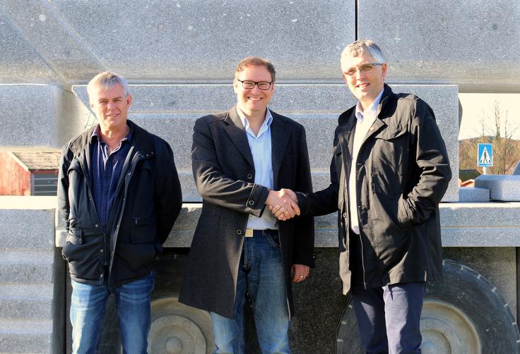 Fra venstre Birger Lea i Nordic Crane Vest, Kato Nordland i Arka Norge og Arild Netland i Stangeland Maskin.
