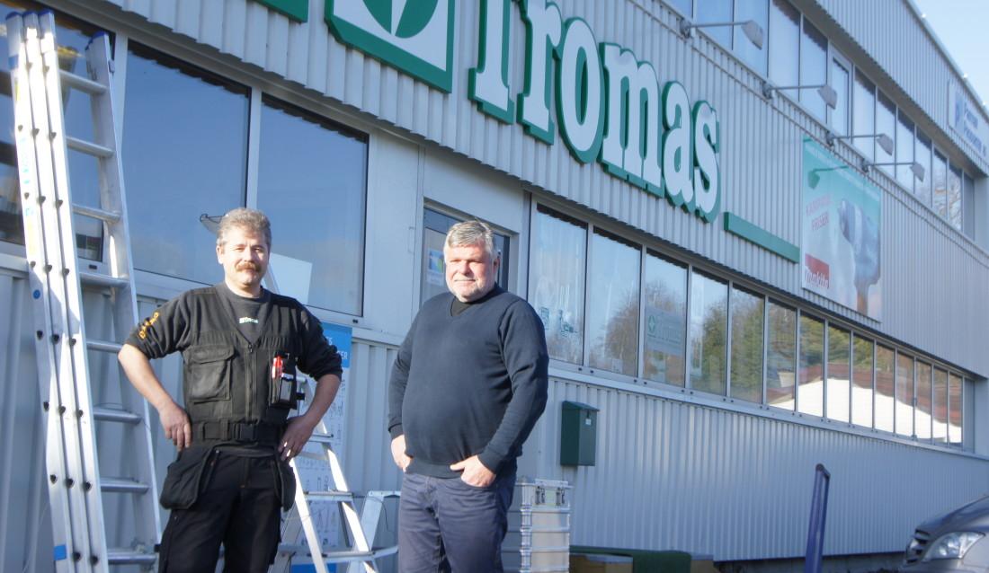 Fagleder Thor Olaf Staven og daglig leder Geir Humbernes i Tromas AS