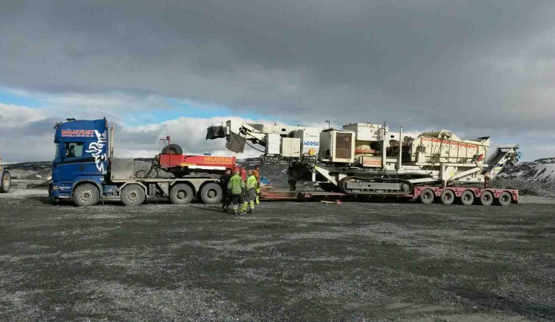 60-tonns konknuser av typen Metso LT 1100 .