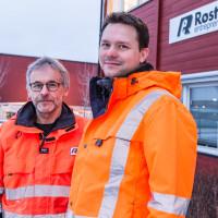 Jon Sellæg og Lars Petter Sjøvold i Røstad Entreprenør AS