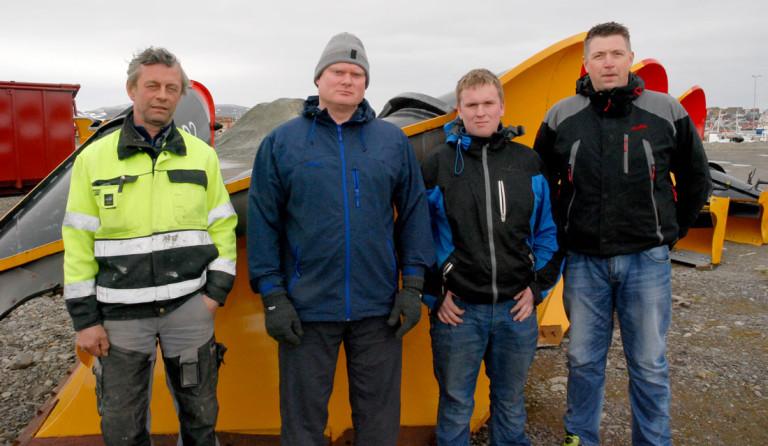DYKTIGE: (F.v.) Geir Karlstad  tror Thor-Erling Korsnes, Eskil Langås og Daniel Grip greit får seg jobb igjen. (Foto: Alf H. Jensen, Finnmarken)