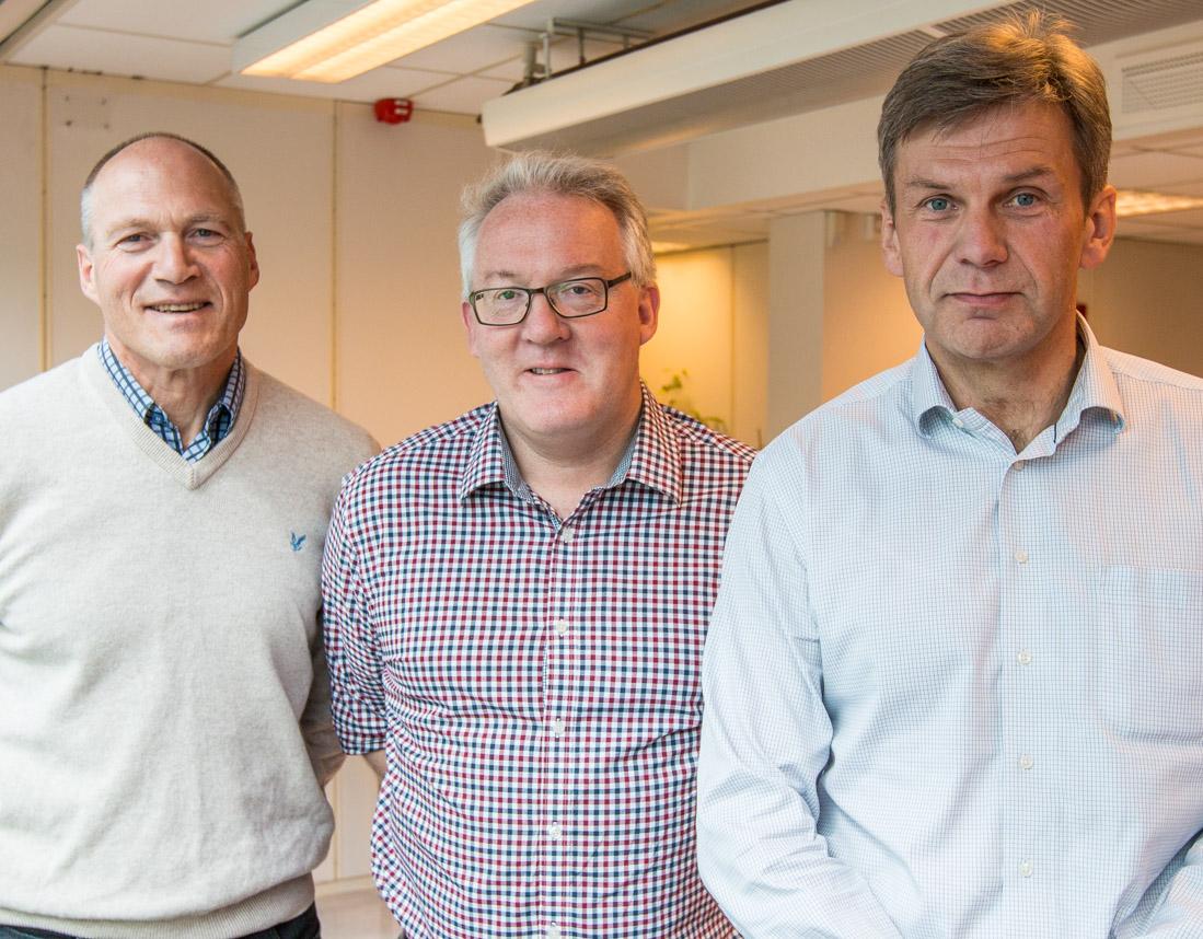 F.v. Sjefingeniør Bjørn Lerstad, tilsynsleder Tore Jeppe Sørhaug og regiondirektør Stig Magnar Løvås i Arbeidstilsynet region Midt-Norge.