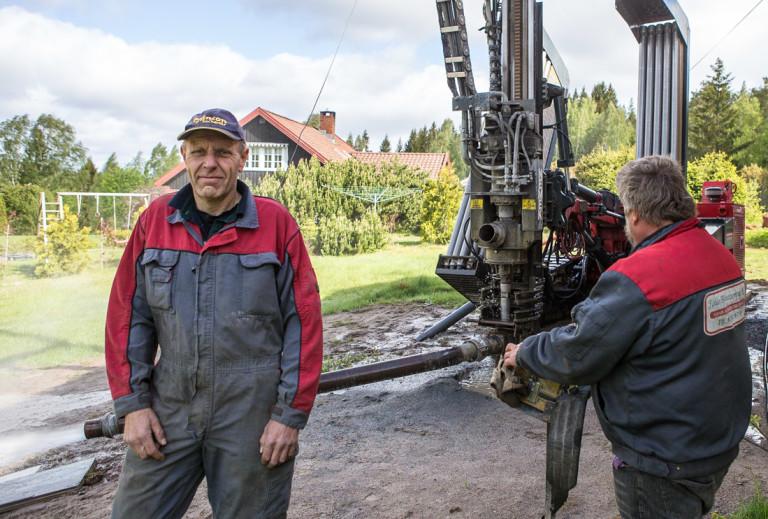 Arne Riis og Ole Johnny Holta i Follo Brønnboring AS