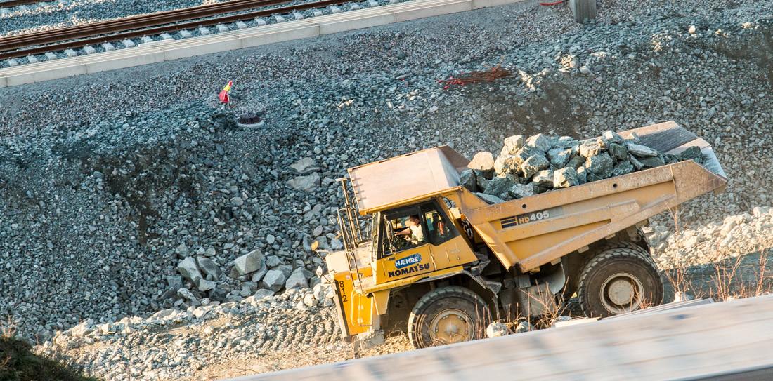 Fellesprosjekt dumper jernbane
