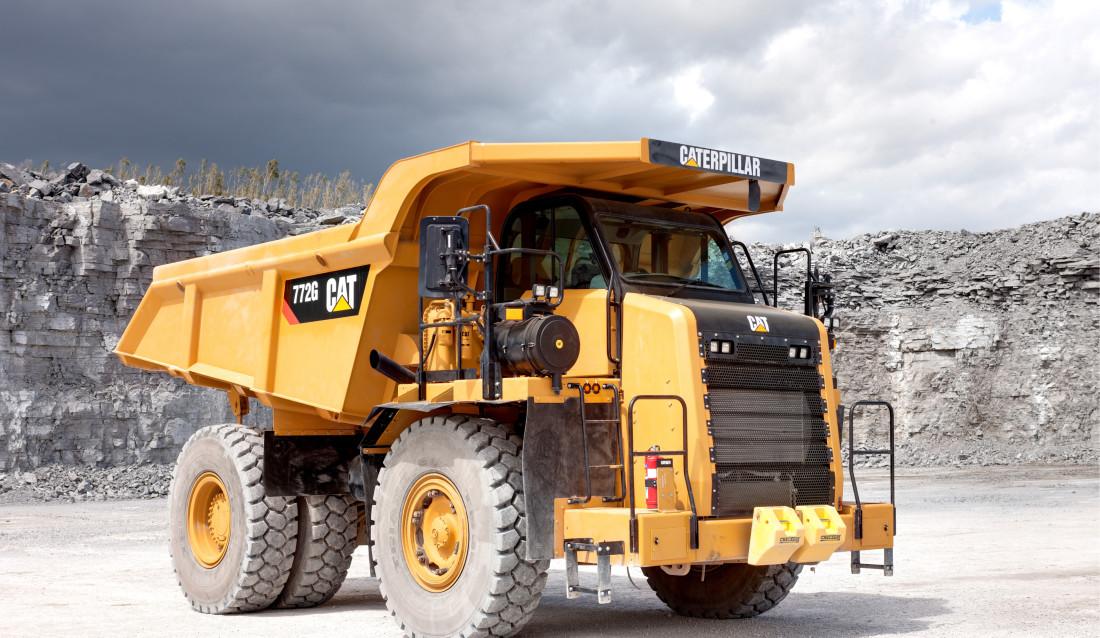 Hele 10 tipp trucker av typen Cat 772 G skal leveres. (Foto: Pon Equipment).