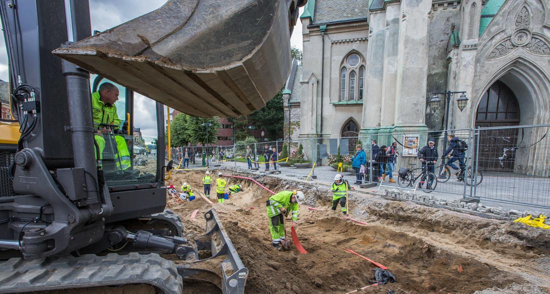 Repstad graver ut P-hus i Kristiansand