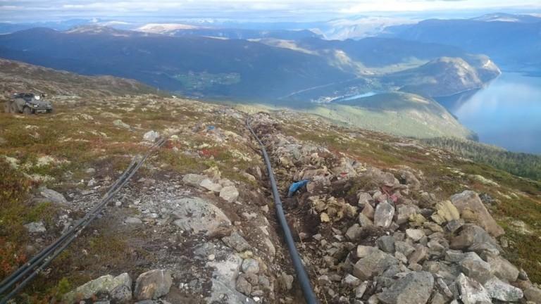 Traseen var 650 meter lang.