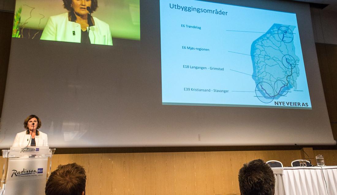Ingrid Dahl Hovland orienterte på Fjellsprengerkonferansen.