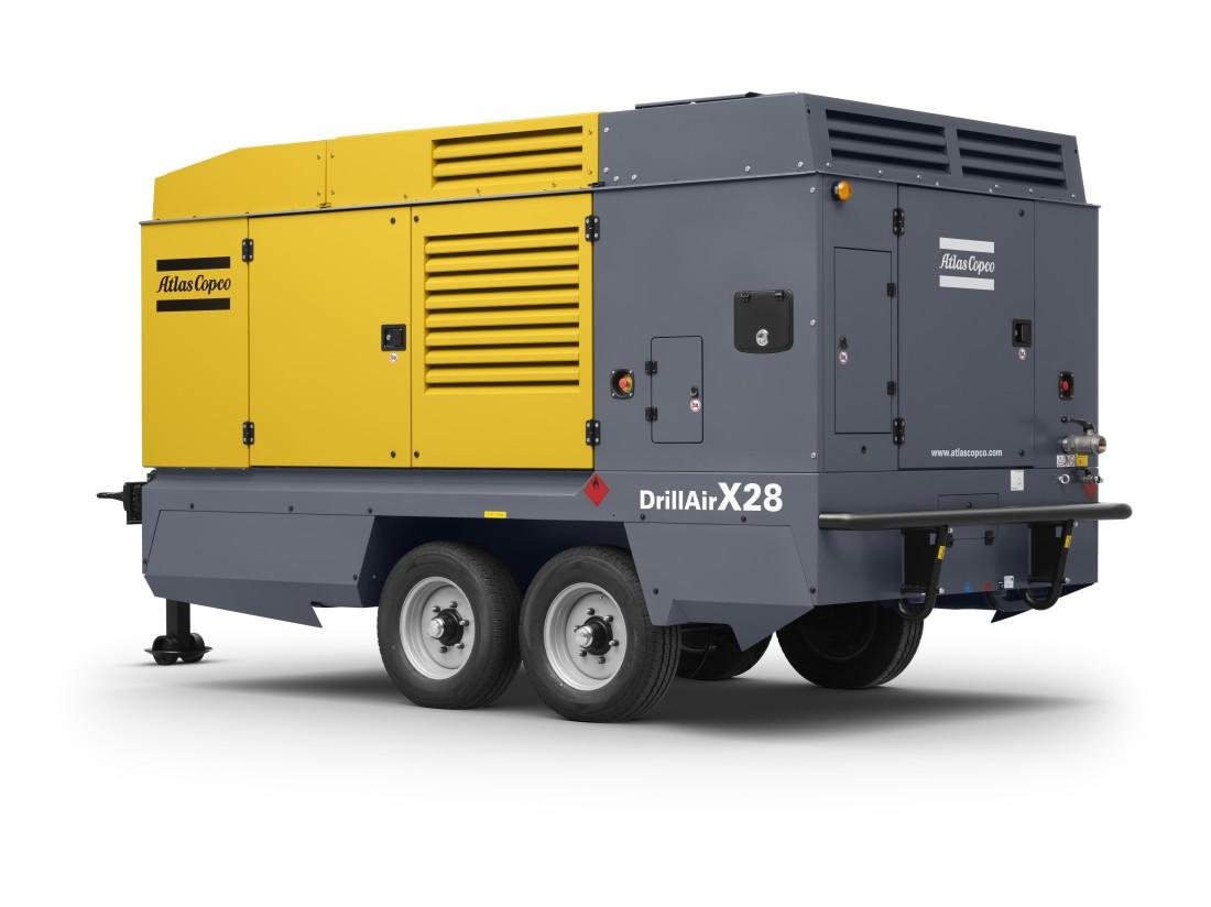 Kompressoren DrillAir X28 fra Atlas Copco.