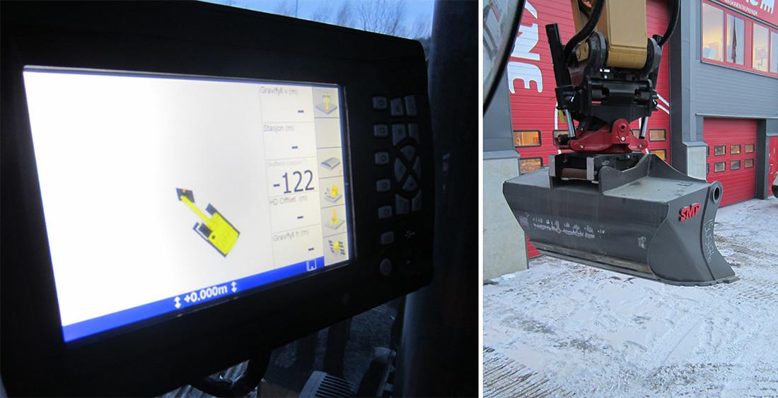 Rototilt Position Solution og Trimble GCS 900 maskinstyring.