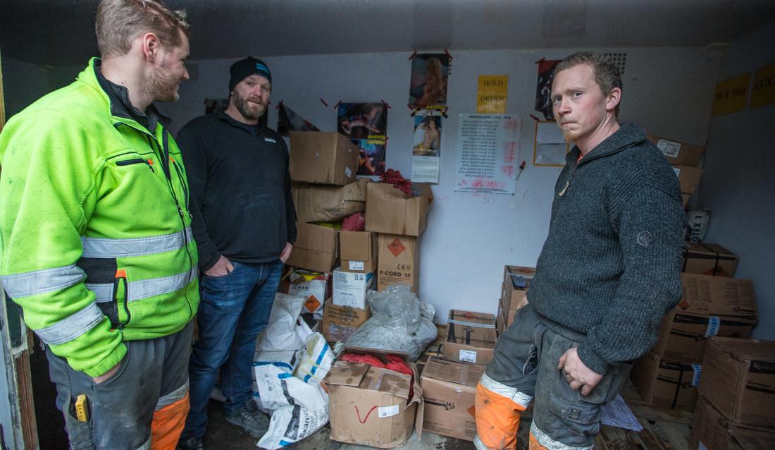 F.v. borer Anders Andersen, skytebas Jon-Fredrik Johansen og sjef Petter A. Olsen