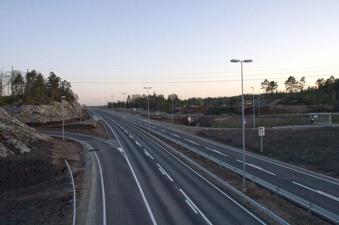 Illustrasjonsfoto fra E18 ved Kristiansand. (Wikimedia Commons).