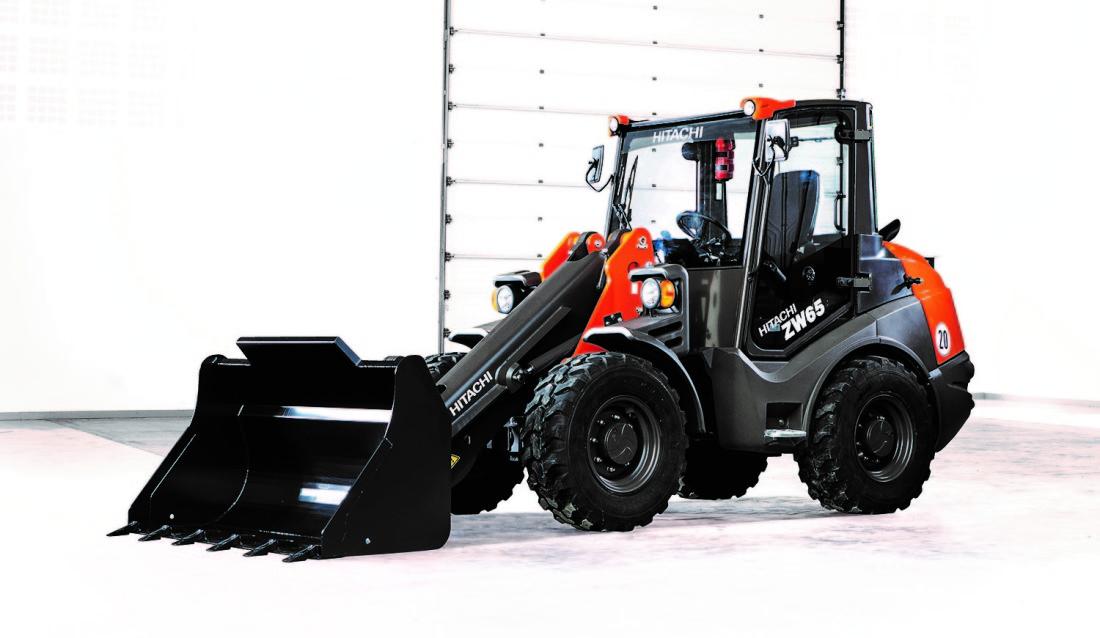 Hitachi ZW65-6 er en av de tre nye kompakte hjullasterne som nå lanseres.