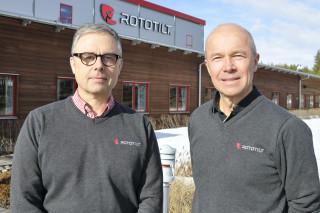 Per Väppling och Anders Jonsson i Rototilt group.