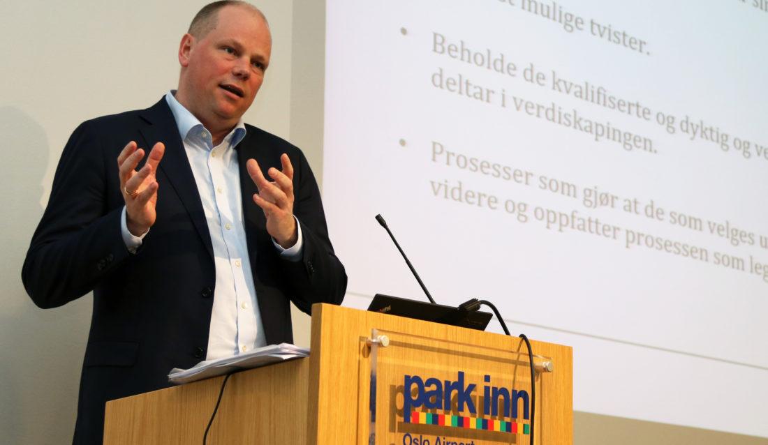 Konsekvensene av ikke å følge formkravene i lovgivningen kan være ugyldighet. Og ugyldighet er dyrt, sa Jan-Erik Sverre, advokat i Kvale Advokatfirma DA. (Foto: Runar F. Daler).