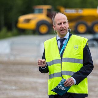 Jörgen Sjöstrand er sjef på Volvo CEs dumperfabrikk.