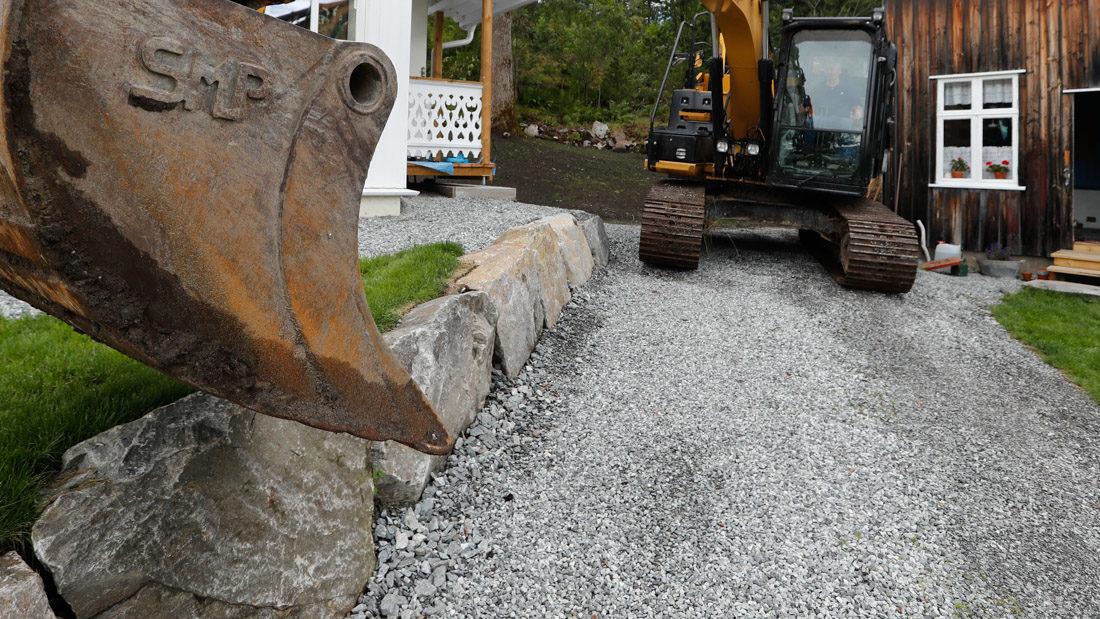 Steinmur og landskapsutforming