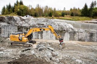 Fjellskjæring gravemaskin Nomeland