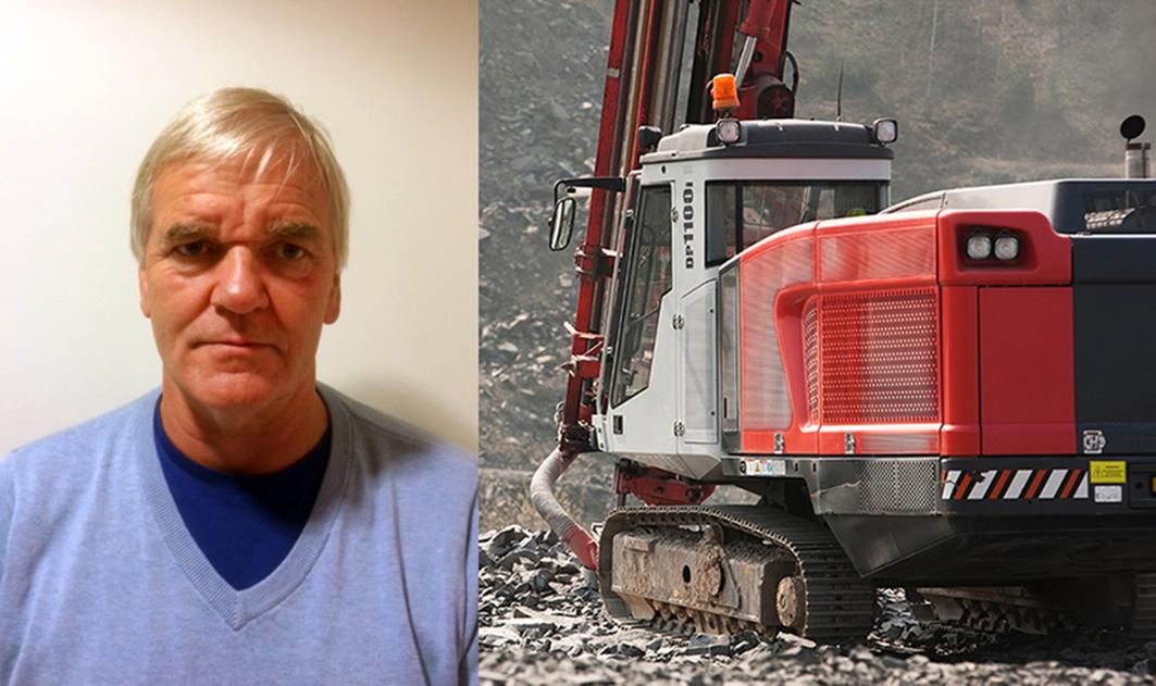 Arild Sande er ansatt som selger av overjordsrigger, borstål og hydrauliske slaghammere i Sandvik Norge AS. (Foto: Sandvik).