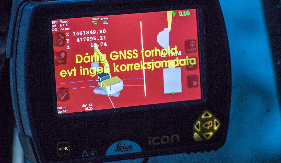 GPS/GNSS mangler fiks