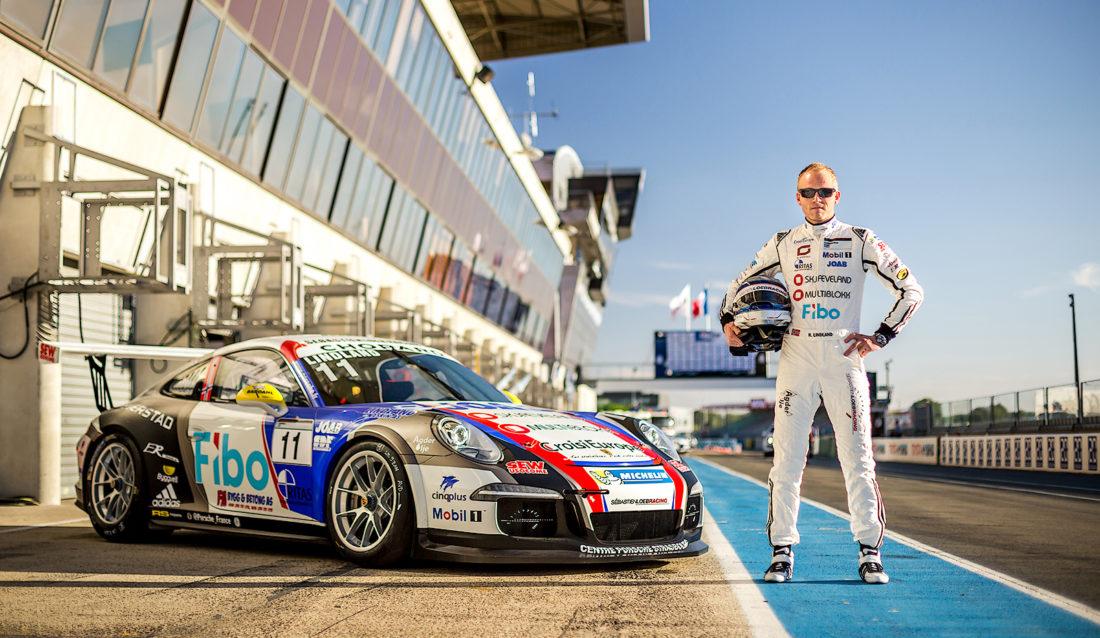 Her er Roar Lindland klar for et race på berømte Le Mans-banen i Frankrike i 2016. (Foto: Alexis Goure).
