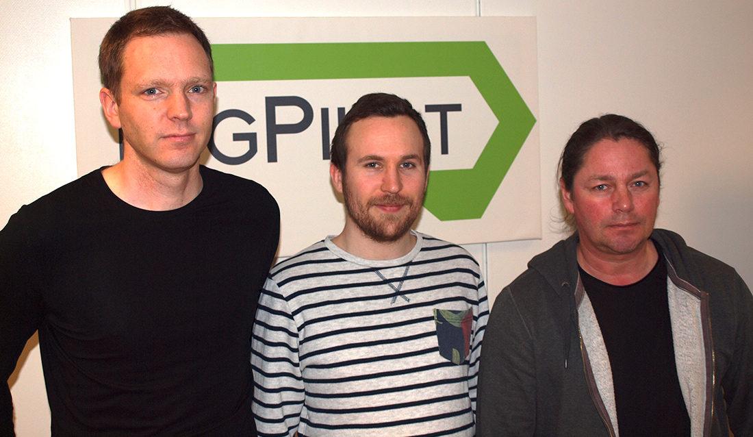 F.v. Utviklingssjef Erik Sørngård, dr Erik Lea og siv-ing Christopher Westlye