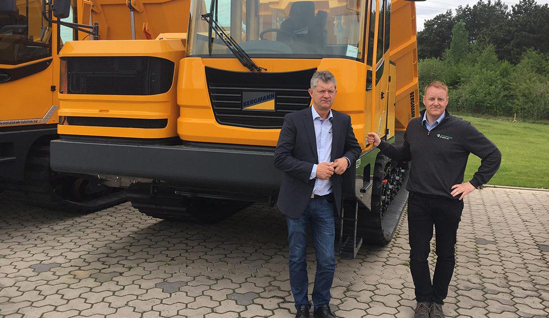 Per Gunnar Holmgren (t.v.) og Lars Thomas Kihle i Anleggsgruppen
