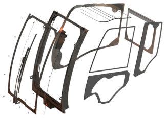 Hammerglass vernklasse 3. Her en skisse av komplett pakke til Hitachi ZX 6