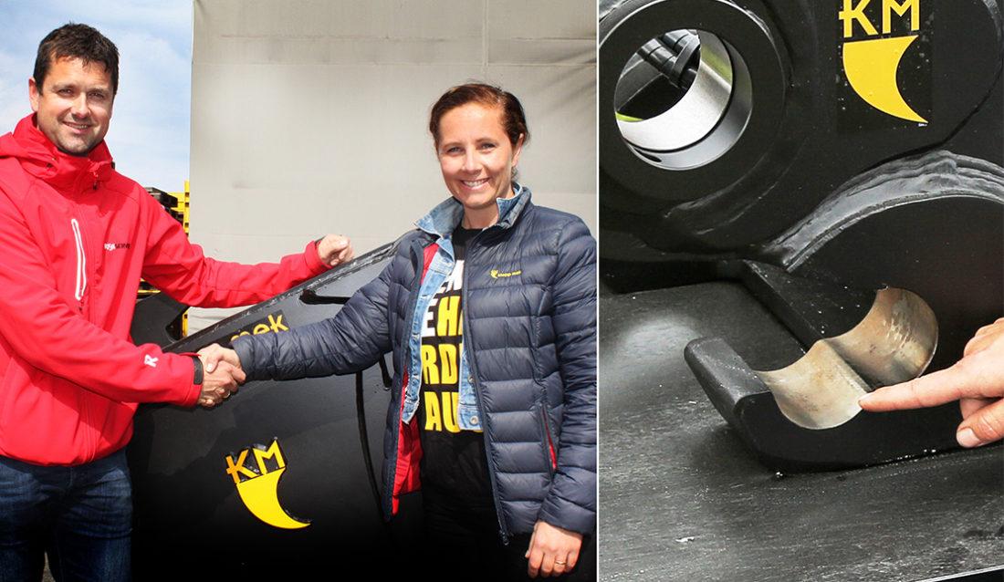 Kjetil Friestad i Risa og Tove Ree i Klepp Mek AS.