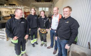 Holmestrand Fjellsprengning AS, Correct Maskin AS og Hetronic Norge AS.