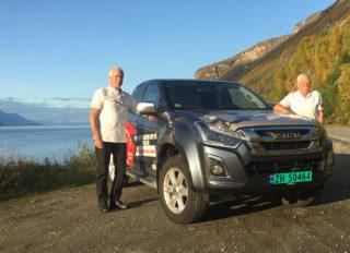 Sjåførene Steinar Jortn og Anders Tollaas