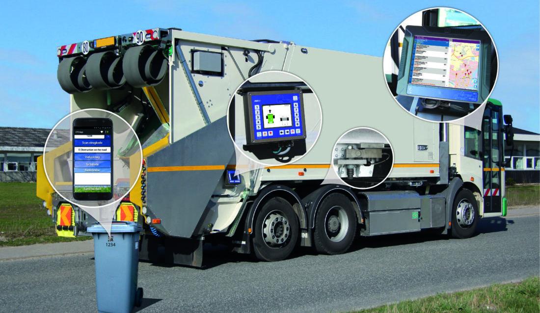 Scaleit har inngått samarbeid med Danmarks største aktør innen veiing på renovasjonsbiler. (Foto: Scaleit).