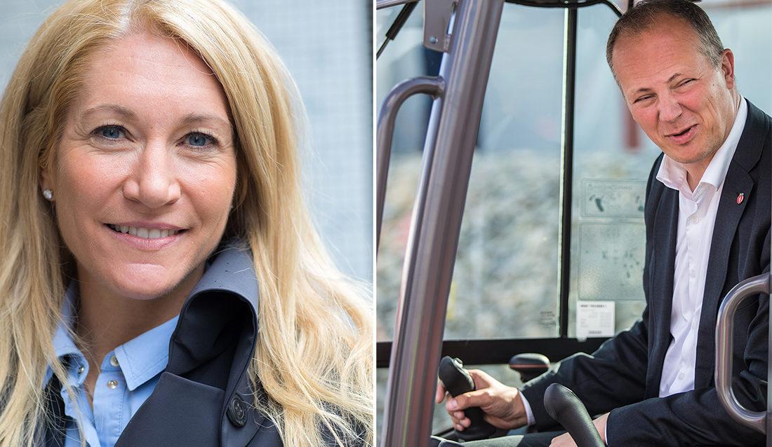 Adm. dir. Julie M. Brodtkorb i MEF og samferdselsminister Ketil Solvik-Olsen