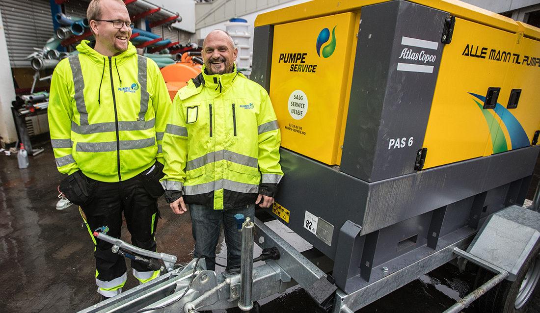 Kai Ingar Allergodt (t.v.) og Robert Butteberg i Pumpe-Service AS