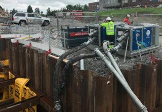 SERIE: To pumper seriekoblet, for større løftehøyde. (Foto: Pumpe-Service AS)
