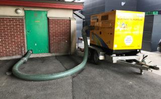 HJUL: En Selwood-pumpe på hjul. (Foto: Pumpe-Service AS)