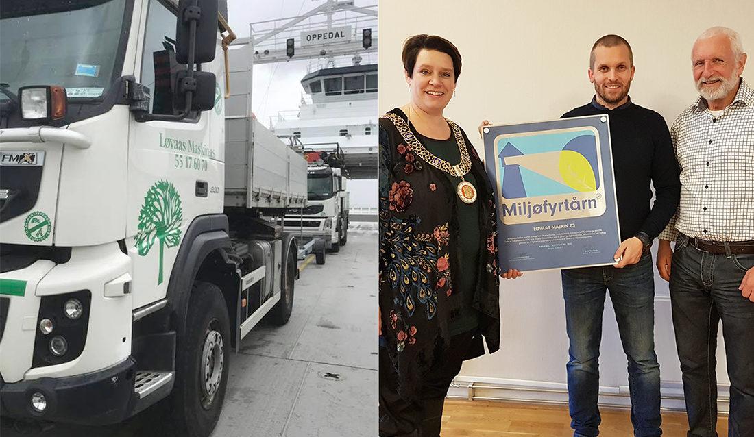 Løvaas Maskin AS får Miljøfyrtån-skiltet