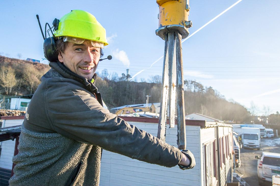 Fana Fjell - Øyvind Sandven - hydraulisk kile