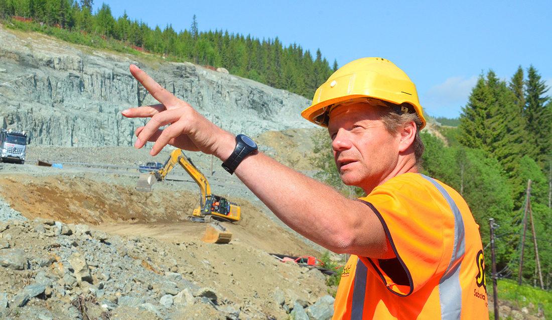 Stikningsleder Bjørn Roger Tangstad i Søbstad AS.