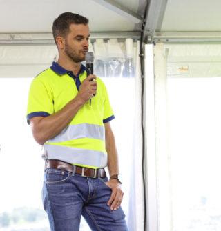 Uwe Müller, Volvo CEs prosjektleder på Electric Site. (Foto: Runar F. Daler).