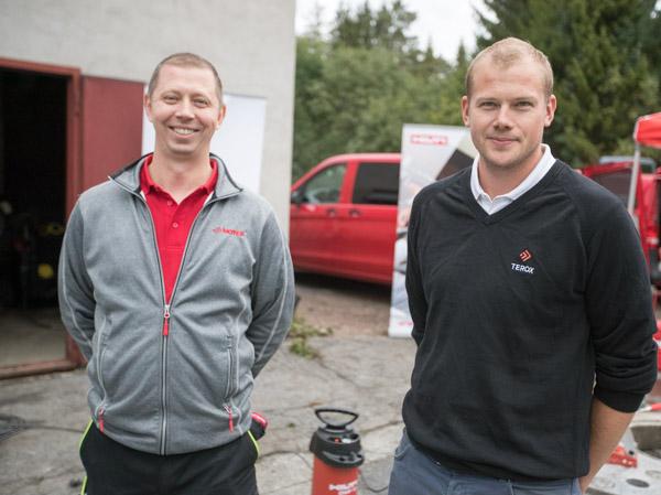 Bård Beylich i Motek AS og Kristoffer Vegheim i Terox AS