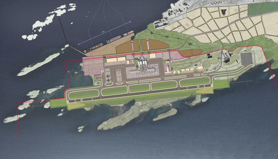 Ny lufthavn i Bodø. (Illustrasjon: Avinor)