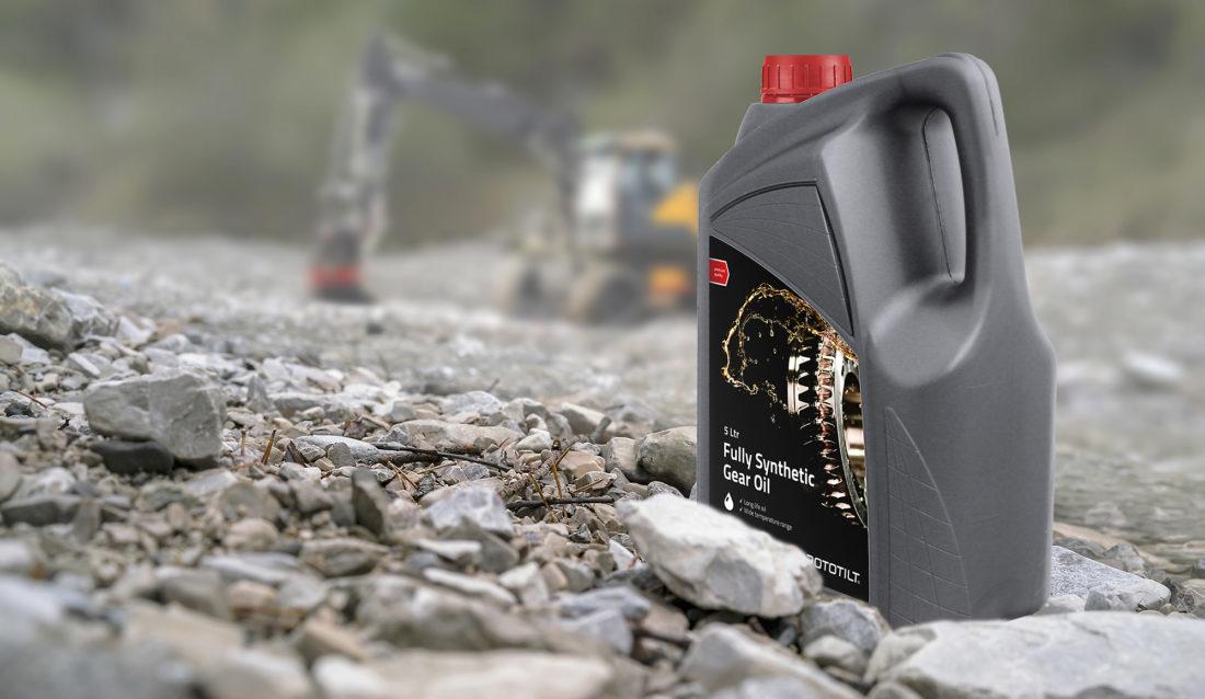 Rototilts Fully Synthetic Gear Oil. (Foto: Rototilt Group AB)
