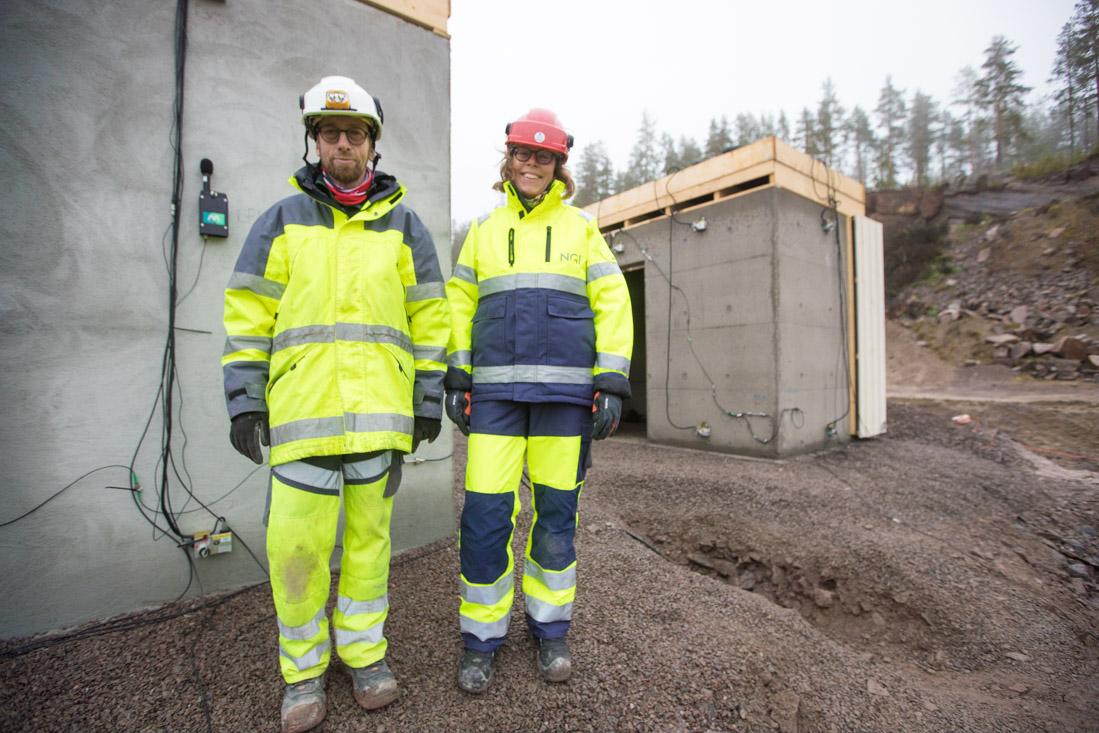 Nils Ramstad i Multiconsult og Karin Norén-Cosgriff i NGI.