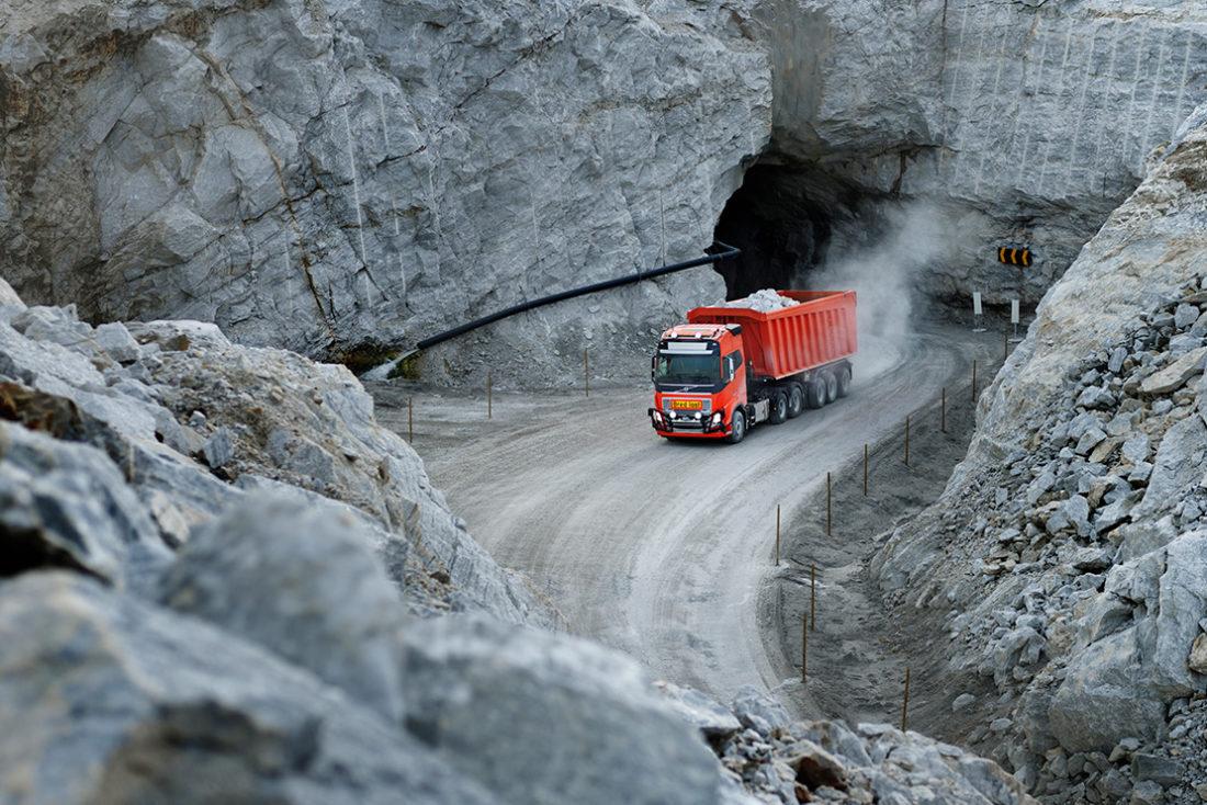 Fem kilometer autonom kjørerute i tunnel og i dagen hos Brønnøy Kalk AS