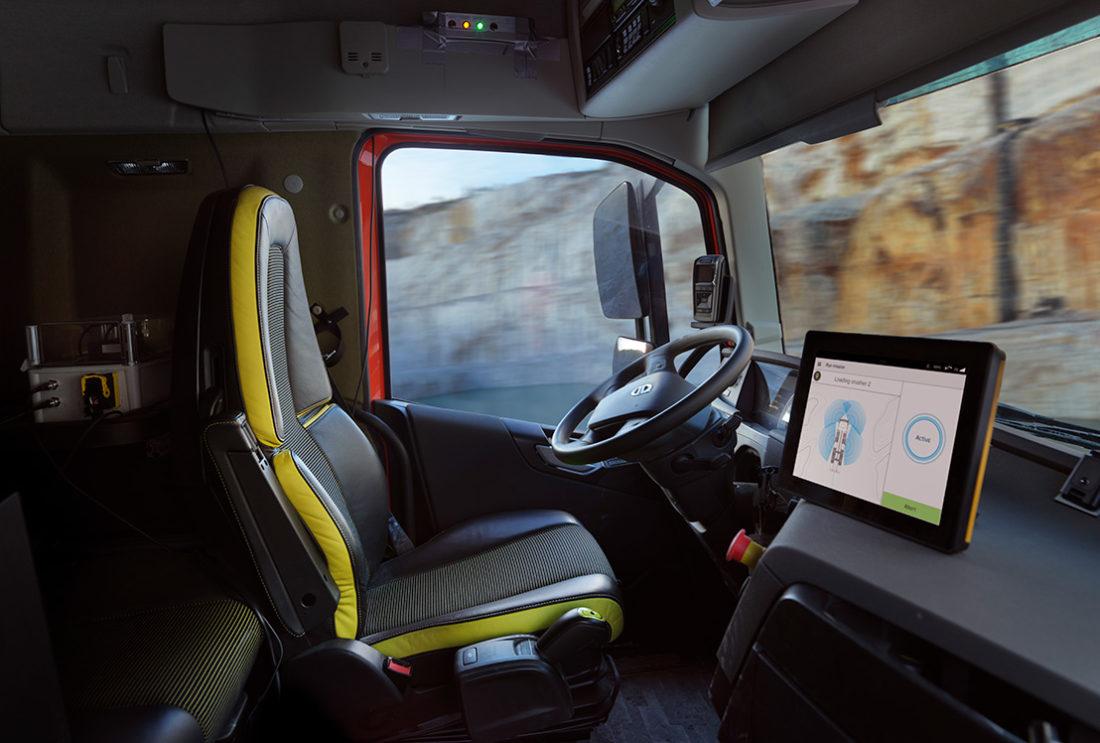 Volvo lastebil uten fører