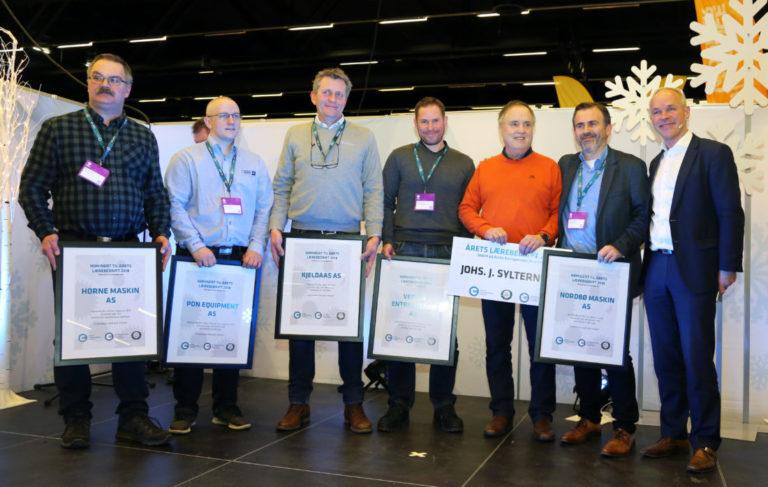 Alle seks nominerte bedrifter til årets lærebedrift 2018. (Foto: Runar F. Daler).