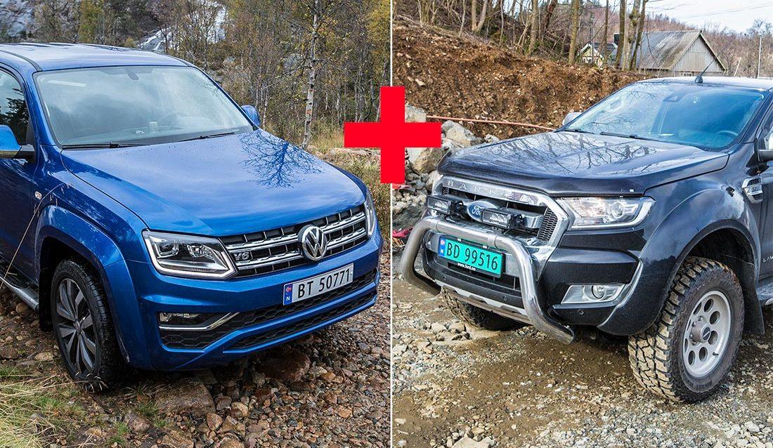 2016 VW Amarok V6 og 2017 Ford Ranger 3.2 med Delta-ombygging.
